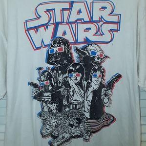 Star Wars 3D Glasses Mens XL T-shirt Yoda Vader